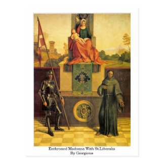 Enthroned Madonna With St.Liberalis By Giorgione Postcards