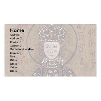 Enthroned Mary With Christ Blessing Children Double-Sided Standard Business Cards (Pack Of 100)