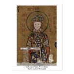 Enthroned Mary With Christ By Byzantine Mosaicist Postcard