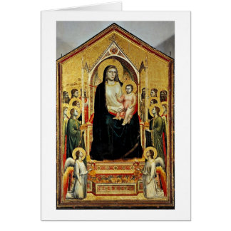 Enthroned Virgin And Child By Giotto Di Bondone Card