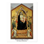 Enthroned Virgin And Child By Giotto Di Bondone Postcard