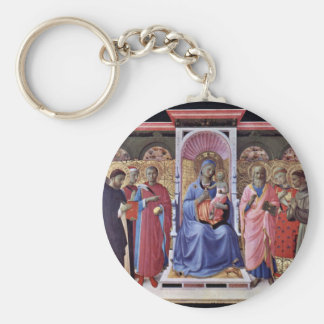 Enthroned Virgin And Child With Saints Key Chains
