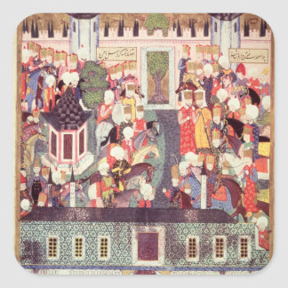 Enthronement of Suleyman the Magnificent Square Sticker