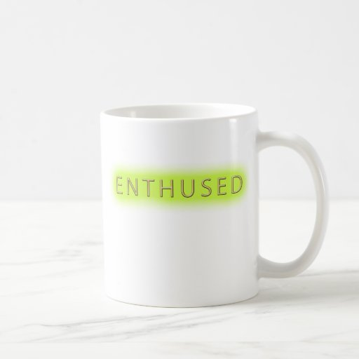 Enthused (blanco) taza de café