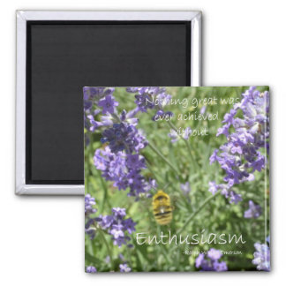 Enthusiasm 2 Inch Square Magnet