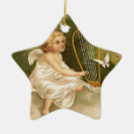 Enthusiasm for Life Double-Sided Star Ceramic Christmas Ornament