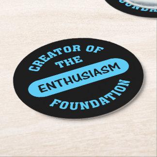 Enthusiasm Foundation Creator Round Paper Coaster