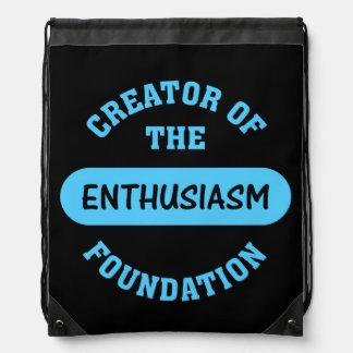 Enthusiasm Foundation Drawstring Bags