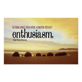 Enthusiasm Motivational Poster