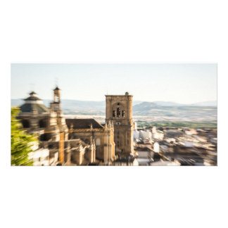Enthusiastic attraction photo greeting card