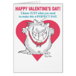 ENTHUSIASTIC CAT Valentines by Boynton Greeting Card