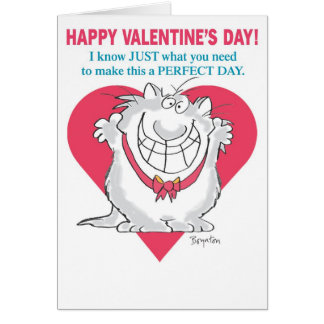 ENTHUSIASTIC CAT Valentines by Boynton Card