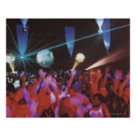 Enthusiastic crowd dancing poster