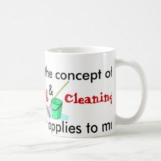 Entiendo el concepto de cocinar y de limpieza taza básica blanca