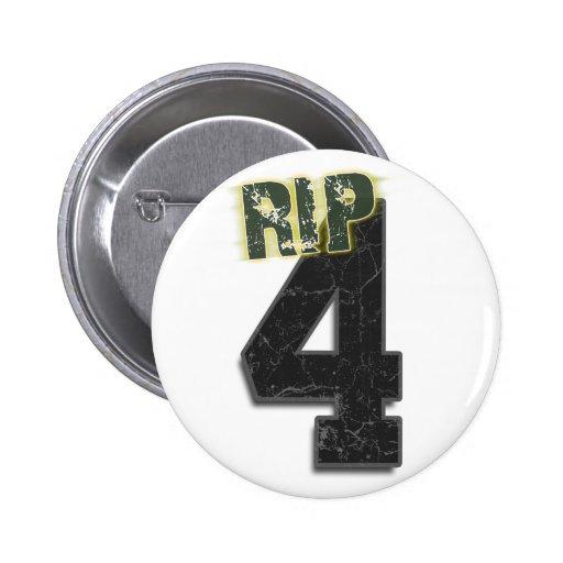 Entierro de Brett Favre del RASGÓN #4 y botón del  Pins