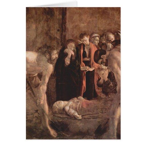 Entierro de Caravaggio- del santo Lucy Felicitaciones