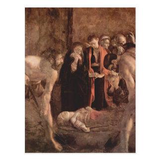 Entierro de Caravaggio- del santo Lucy Tarjetas Postales