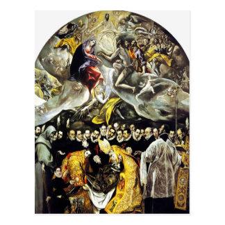Entierro de El Greco de la cuenta de la postal de
