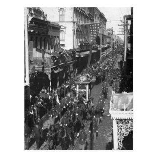 Entierro de Jefferson Davis en New Orleans: 1908 Postal