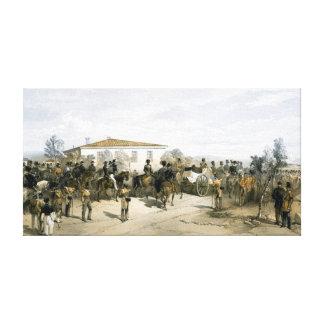 Entierro de señor Raglan del mariscal de campo Lienzo Envuelto Para Galerias