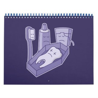 Entierro del diente calendario de pared