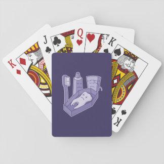 Entierro del diente cartas de póquer