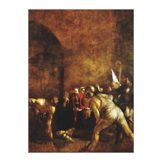 Entierro del santo Lucy por Caravaggio (1608) Lona Estirada Galerías
