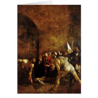 Entierro del santo Lucy por Caravaggio (1608) Tarjeta De Felicitación