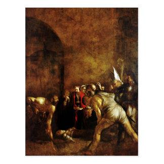 Entierro del santo Lucy por Caravaggio (1608) Tarjeta Postal