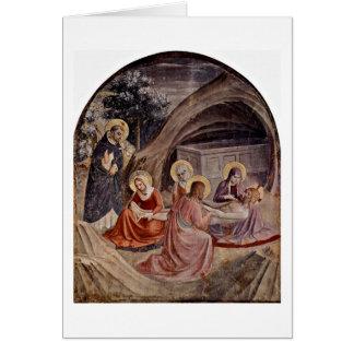 Entierro por Fra Angelico Tarjetón