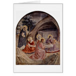 Entierro por Fra Angelico Tarjeta De Felicitación