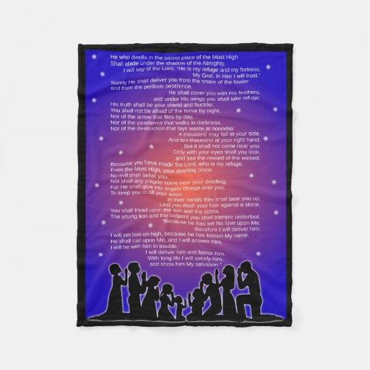 Entire Psalm 91 Fleece Blanket