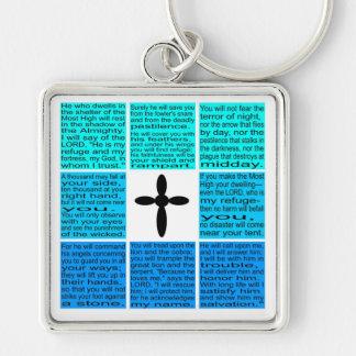 Entire Psalm 91 Keychain