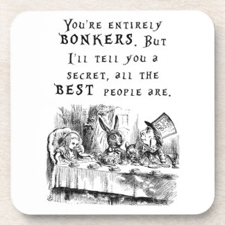 entirely bonkers A4 Beverage Coaster