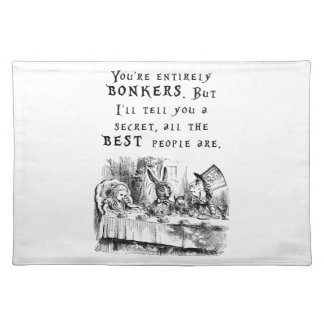 entirely bonkers A4 Cloth Placemat