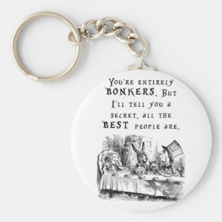 entirely bonkers A4 Keychain