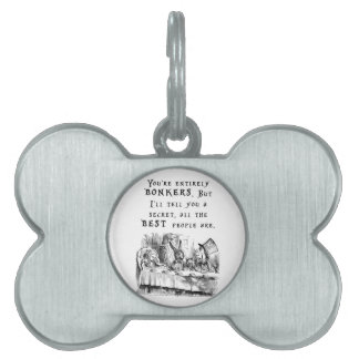 entirely bonkers A4 Pet ID Tag