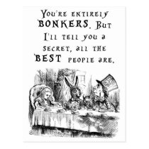 entirely bonkers A4 Postcard