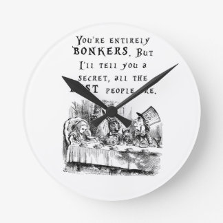 entirely bonkers A4 Round Clock