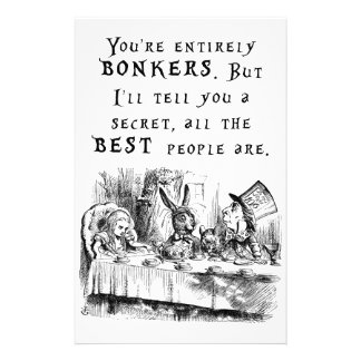 entirely bonkers A4 Stationery