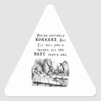 entirely bonkers A4 Triangle Sticker