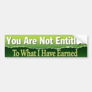 Entitled Bumper Sticker