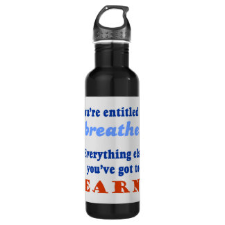 ENTITLED TO BREATHE STAINLESS STEEL WATER BOTTLE