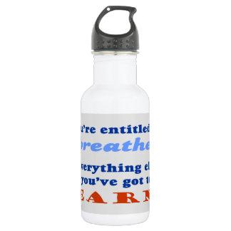 ENTITLED TO BREATHE WATER BOTTLE