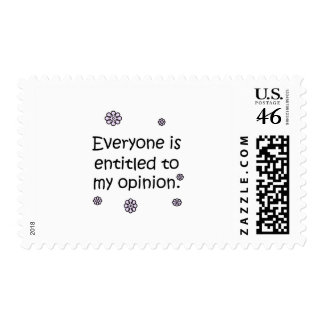 Entitled To My Opinion Postage