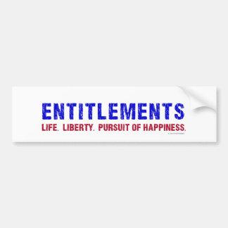 Entitlements Bumper Sticker
