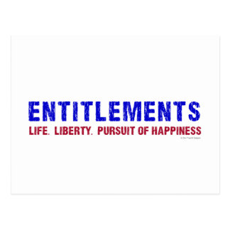 Entitlements Postcard