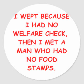 entitlements round stickers