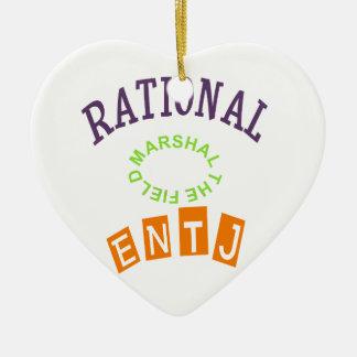 ENTJ Rationals Personality Ceramic Ornament