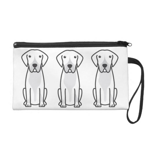 Entlebucher Mountain Dog Cartoon Wristlet Clutch